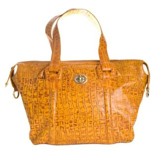 Michael Rome Croc embossed Large Satchel