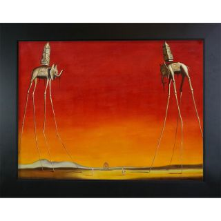 Dali The Elephants Hand painted Framed Art