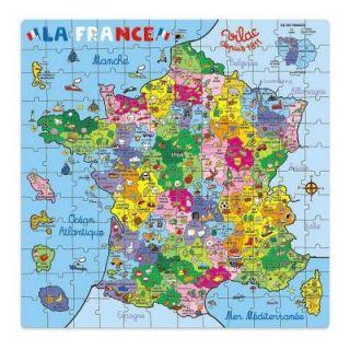 Puzzle 144 pièces   Carte de France en valise   Achat / Vente PUZZLE