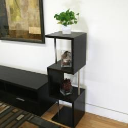 Cornelia Dark Brown Wood Modern Tall Display Shelf
