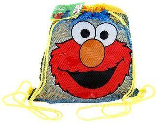123 Sesame Street Elmo Draw String bag  mesh bag Toys