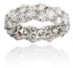 Diamond Platinum Eternity Wedding Band Ring Jewelry