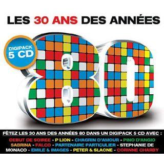 LES 30 ANS DES ANNEES 80   Compilation (5CD)   Achat CD COMPILATION