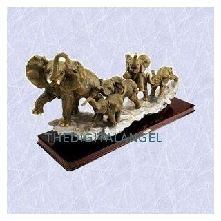 The elephant family statue home Pachyderm s sculpture (Digital Angel