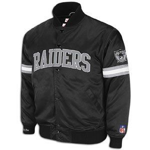 Oakland Raiders Mitchell & Ness Backup Satin Jacket