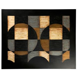 Multicolor Wood Abstract Contemporary Wall Art