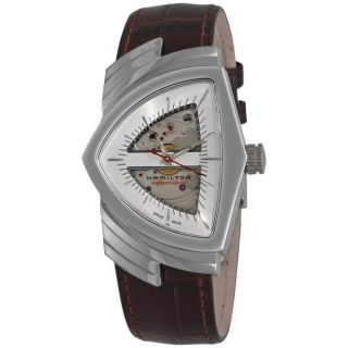 Hamilton Mens Ventura Brown Strap Automatic Watch
