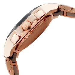 Jacques Lemans Mens Dublin Rose Gold IP & Black Ceramic Chrono Watch