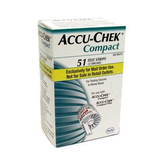 Accu chek Compact Blood Glucose 51 ct Test Strips (Pack of 3