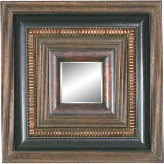 Square Framed Dark Gold Wood Decorative Wall Mirror Today $166.09