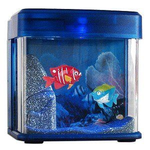 USB Mini Aquarium with LEDs (Blue)