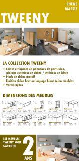TWEENY Table de séjour 165x90cm chêne   Achat / Vente TABLE A MANGER
