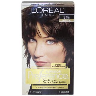 Oreal Superior Preference Fade defying #3 Soft Black Hair Color