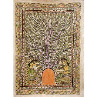 Asian Art from India Madhubani Folk Paintings Decor Home