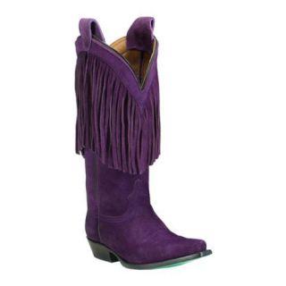 Womens Lane Boots Phringe Purple Suede