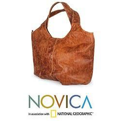 Leather Urban Honey Large Hobo Bag (Mexico)