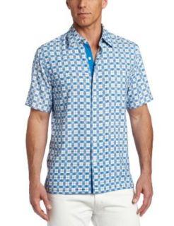 Nat Nast Mens Cruiser Short Sleeve Shirt, White, Medium