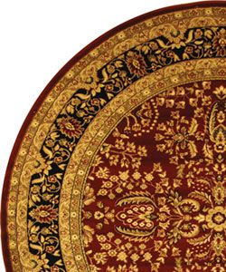 Lyndhurst Collection Persian Treasure Red/ Black Rug (8 Round
