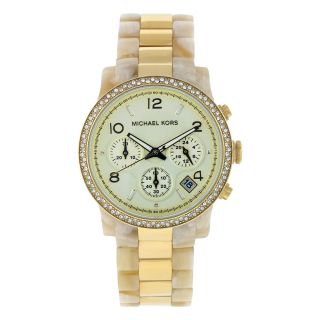 Michael Kors Womens White/ Gold Classic Watch
