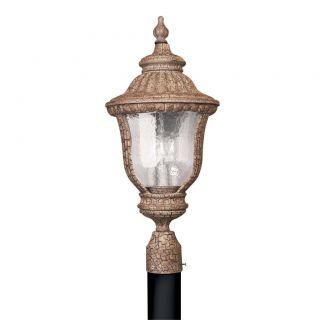 Antique Umber 3 light Outdoor Post Head