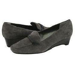 Vaneli Catline Grey Suede With Black Croco Print Pumps/Heels