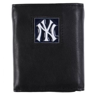 New York Yankees Mens MLB Genuine Leather Tri fold Wallet