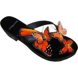 Womens Susan Mango Monarch Butterfly Orange/Green/Black