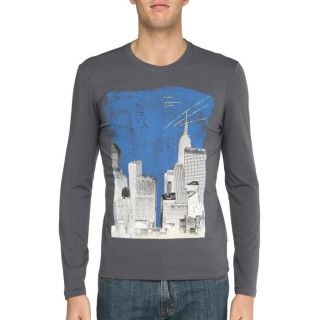 CALVIN KLEIN JEANS T Shirt Homme anthracite etanthracite et bleu