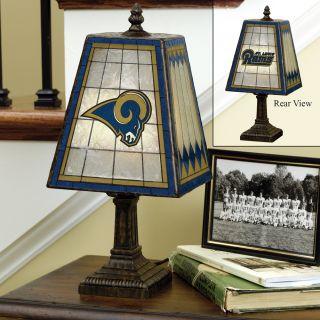 St. Louis Rams 14 inch Art Glass Lamp