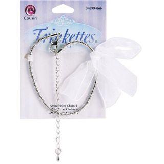 Trinkettes Silvertone Chain Bracelet