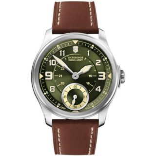Victorinox Swiss Army Mens Infantry Vintage Green/ Brown Mechanical