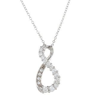 Icz Stonez Sterling Silver Cubic Zirconia Infinity Pendant