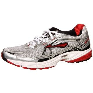 Brooks Mens Adrenaline GTS 11 Silver/Red Athletic Shoes