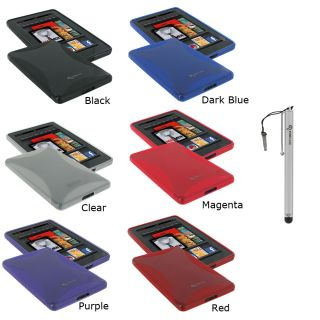 rooCASE  Kindle Fire TPU Gel Skin Case & Stylus