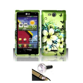 LG Lucid Hawaii Flower Protector Case with Charm Plug