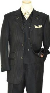 140S Extra Fine Wool Vested Suit 915021/1 (US 46L/Euro 56   40 in