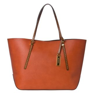 Michael Kors Gia Large Orange Leather Tote Bag