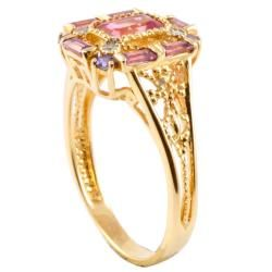 Michael Valitutti 14k Gold Multi gemstone and Diamond Accent Ring