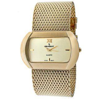 Peugeot Womens Goldtone Mesh Bracelet Watch