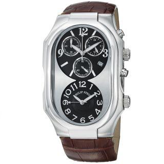Philip Stein Mens Signature Black Dial Chronograph Quartz Watch