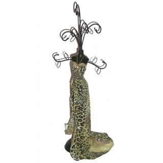 Small Black Leopard Mannequin Jewelry Holder