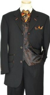 140S Extra Fine Wool Vested Suit 248394/1 4 (US 42L/Euro 52   36 in
