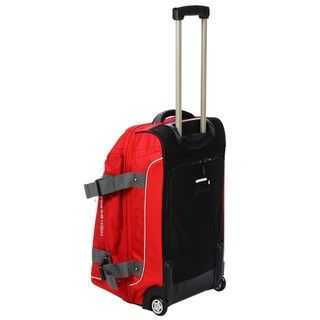 High Sierra AT3 26 inch Fire Red Drop bottom Rolling Duffel Bag