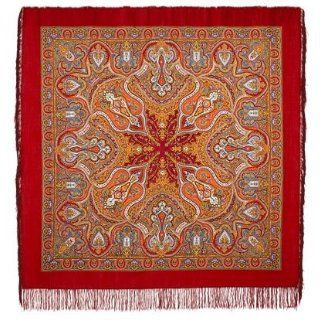 Spanish Russian Shawl (silk fringe) 146x146cm (57,5x57,5
