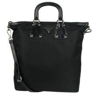 Prada BN2071 Black Nylon Tote Bag