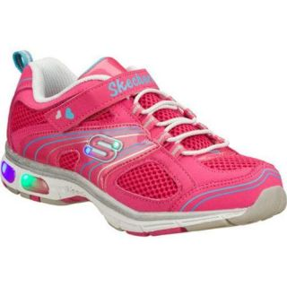 Girls Skechers S Lights Light Ray Pink