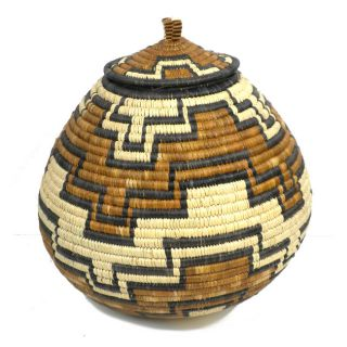 Ukhamba Abstract Pattern Beer Basket (South Africa)