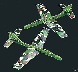 Camouflage Military Airplane Gliders (144 pcs) Toys & Games