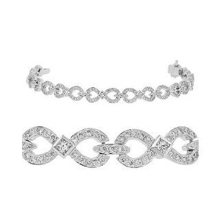 Diamond Bracelet   Infinity Diamond Tennis Bracelet in