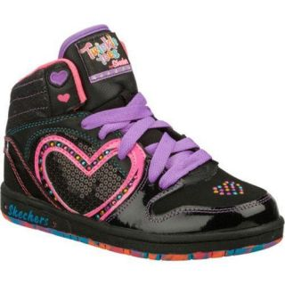 Girls Skechers Twinkle Toes Sugarcanes Heart N Soul Black/Multi